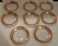 1950' Service En Cristal De St Louis Thistle 90 Piéces