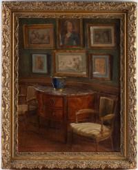 Tableau de J.C.Rosenberg Scène d'intérieur XIXème