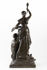 A French Late 19th Century Bronze Statue signed H.Levasseur (1853-1934).