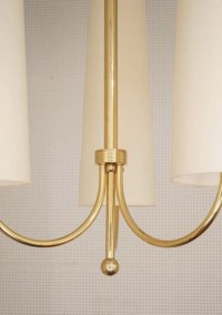 1960 Maison Honore Large Pair of Maison Honore Brass Sconces