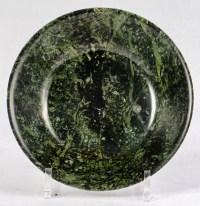 Plat en jade néphrite épinard, période Qianlong