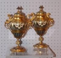 Paire de vases cloisonnées, fin XIXe
