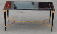 1950' Table Basse en Fer Peint et Doré a l Or Style G Poillerat