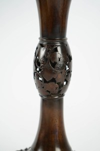 Grand vase japonais en bronze - Signé Hidemitsu