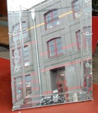 1950' Miroir Venise A Fleurs 139  X 79 cm