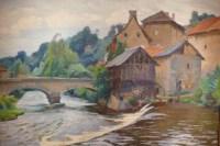PAILLER Henri Peinture Française 20è Siècle Ecole De Crozant Le Moulin dans La Creuse Huile Signée
