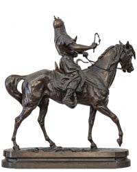Gengis Khan A Cheval Par Alfred Barye (1839-1895)