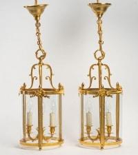 A Pair of lanterns in Louis XVI style.