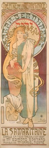 Alphonse Mucha - Théâtre de la Renaissance - Sarah Bernhardt - La Samaritaine - 1897
