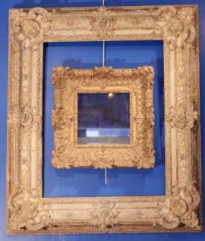 Magnifique cadre d'époque régence et petit miroir d'époque Louis XIV