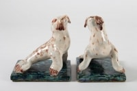 Pair Of Bookends, Seal, Ceramic, 1950
