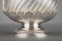 Orfèvre BOIN TABURET - suite de quatre aiguières en cristal monture argent XIXè