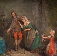 Scène familiale. Ecole française XVIIIème