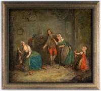 Scène familiale. Ecole française XVIII