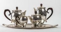 Service à thé 1925, Métal argenté