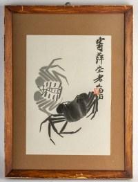Deux crabes, lithographie d'après Qi Baishi