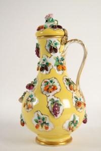 Aiguière Ou Canakkale En Porcelaine Par Jacob Petit XIXème