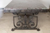 Large And Decorative XXth Century Table In The Manner Of Gilbert Poillerat.