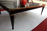 1950/70 Gerard MILLE Pour Maison Jansen Table Basse Bois Laqué Noir 120 x 80 cm