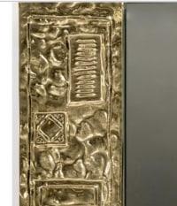 Miroir 1960 signé par Angelo Brotto en bronze doré