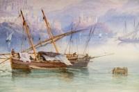 Paire d'aquarelles, fin XIXème, L'une signée E. St John