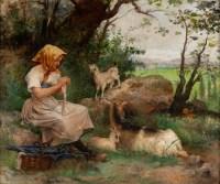 La chevrière par Fernand Lematte, XIXème