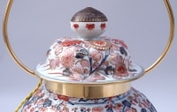 Grande potiche en porcelaine Imari montére en lampe, circa 1950