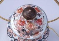 Grande potiche en porcelaine Imari montée en lampe, circa 1950