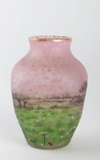 """Daum Nancy : """"Prairie"""" Vase"""