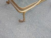 1970′ Bar Roulant en Bronze et Laiton Doré Maison Baguès Ou Charles Ou Jansen Décor Napoléon 3