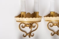 Suite Of 4 Walls Of The Half Of The Century, 1950-1960, Design Metal Painted And Gilded