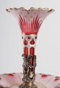Une tulipe en cristal de Bohème rouge