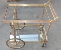1950/70' Bar Roulant en Bronze Style Maison Bagués