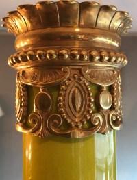 Grand vase céladon à col resserré et bronze doré. Réf: 289.