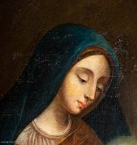 La vierge et l'enfant, Ecole française XVIIIème