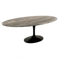 """Eero Saarinen & Knoll  """"Tulip"""" Ovale  Table 244 cm Noire"""