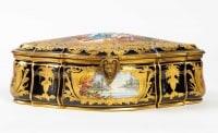 Une boite / coffret en porcelaine de sèvres