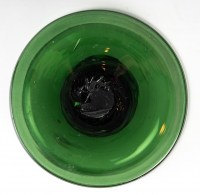 Vase en Cristal de couleur vert, XXème siècle .