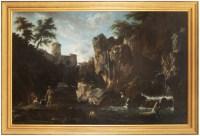 Vue sur la cascade de Tivoli - Cercle de Claude Joseph Vernet
