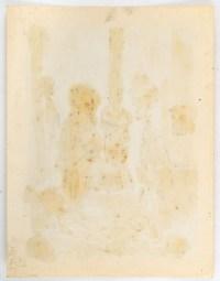 Personnage près d'un Poêle à bois, Huile sur Papier, XX siècle.