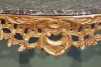 Paire de consoles de style Louis xv du XIXème siècle
