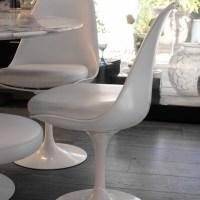 """Knoll & Saarinen : 4  Chaises Pivotantes """"Tulip"""""""