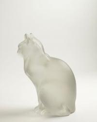 """René Lalique (1860-1945)  """"Chat Assis"""""""