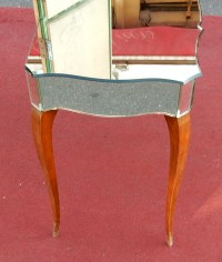 1940' Coiffeuse Art Deco Avec Tryptique Miroirs