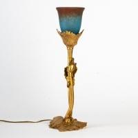 RARE LAMPE DE MAURICE BOUVAL AUX PAVOTS