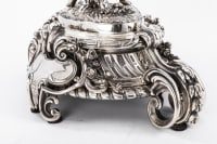 Centre de table en bronze argenté par A. FRESNAIS XIXe