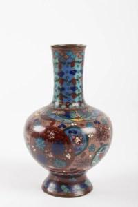 Paire De Vases En Bronze Cloisonné, Chine, XIXème Siècle
