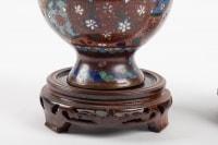 Pair Of Cloisonne Bronze Vases, China, XIXth Century
