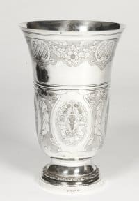 Vase en argent massif - Début XXè par l'orfèvre Bointaburet