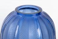 Vase « Biskra » verre bleu saphir de René LALIQUE